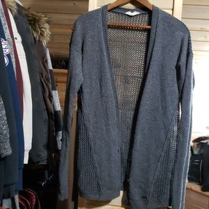 Lightweight Hollister Gray Cardigan, Small